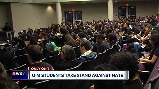 University of Michigan students take a stand against racist incidents on campus - Video