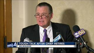 Tough talk after Milwaukee Police Chief Ed Flynn's retirement announcement - Video