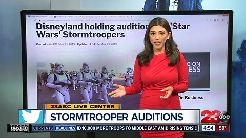Stormtrooper auditions at Disneyland