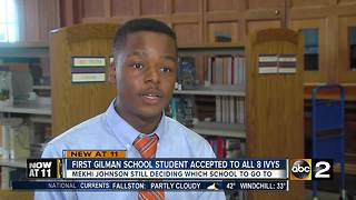 Gilman School student gets accepted to all 8 Ivy League colleges - Video
