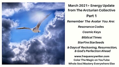 March 2021+ Update Pt 1: Remember The Avatar You Are, Days of Reckoning, Resurrection, Renewal Ahead