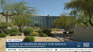Places of worship ready for service