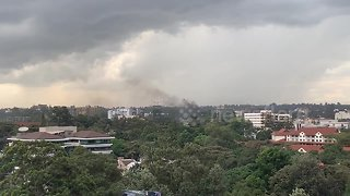 Smoke fills sky and sirens blare in Kenya hotel attack