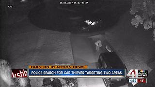 OP police search for car thieves targeting two areas - Video