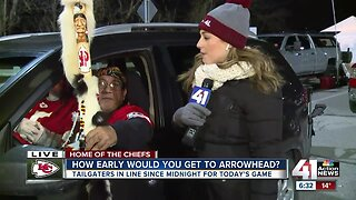 Fans can't wait to get into Arrowhead