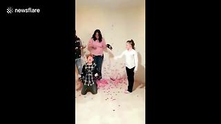 Boy Hoping For Baby Brother Takes Parents' Gender Reveal Very Badly - Video