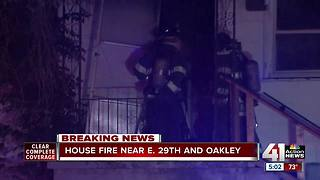 Kansas City fire crews battled two different house fires overnight - Video