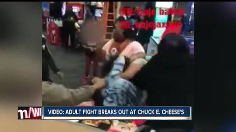 Fight breaks out between two women at Chuck E. Cheese's