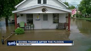 Burlington flood victims thankful during Thanksgiving - Video