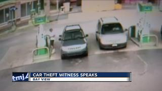 Car stolen from gas station while driver pumped gas - Video