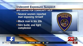 Bakersfield searching for indecent exposure suspect