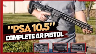"""Palmetto State Armory 10.5"""" Complete AR15 Pistol With SBA3 Brace Review"""