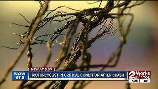 Motorcycle crashes on HWY 169