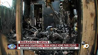 Man found after mobile home park fire - Video