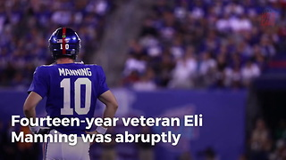 What Eli Manning Was Spotted Doing Right After His Benching Says A Lot