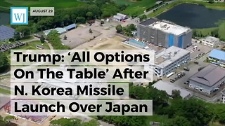 North Korea Launches Missile Over Japan - Video