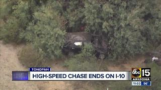 DPS: Spikes used to stop pursuit of vehicle near Tonopah - Video