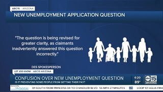 Confusion over new unemployment question
