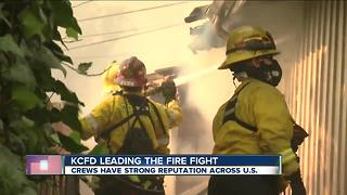 KCFD Aiding in Southern California Firefight - Video