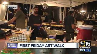 Large crowd for First Friday Art Walk - Video