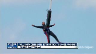 Will Smith celebrates 50th birthday by bungee jumping