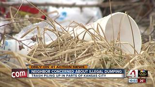 Illegal dumping becoming a nuisance in NE KC - Video