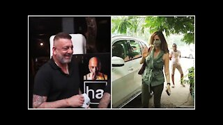 Spotted: Sanjay Dutt At Hakim's Aalim Salon & Sussanne Khan at Kromakay Salon | SpotboyE