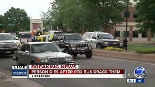 Police: Man dead after being dragged several blocks by RTD bus in Littleton - Video