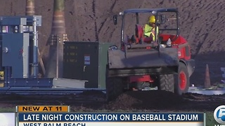 Contractors working around the clock to get Spring Training facility done