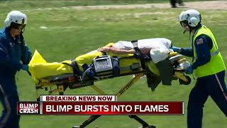 Pilot being treated for burns after blip crash near U.S. Open - Video