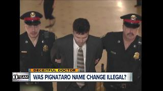 I-Team: Pignataro name change may be illegal - Video