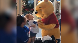 Child with Cerebral Palsy Gets Special Moment with Disney World Winnie the Pooh