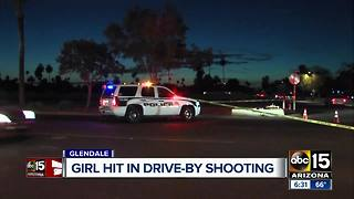 Police continue to search for answers after a young girl was injured in a drive-by shooting - Video