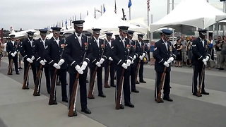 U S Air Force Honor Guard Drill Team - Video