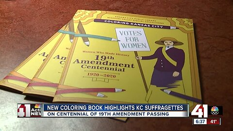 Coloring books for 19th Amendment anniversary available at KC libraries