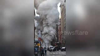 'Several buildings evacuated after explosion' in New York's Flatiron District - Video