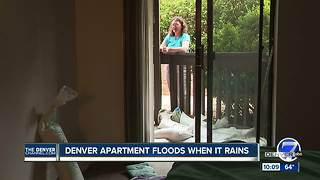 Woman says apartment complex rented her moldy unit prone to flooding - Video