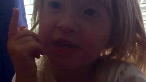 Toddler goes on an adorable rant