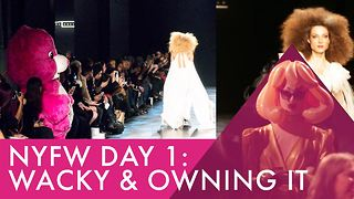 Michael Costello's show brings weird & fun to NYFW - Video