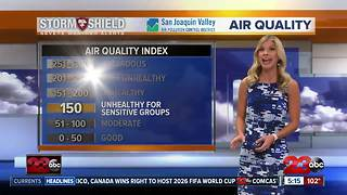 Bad air quality and triple digits in the valley on Thursday - Video