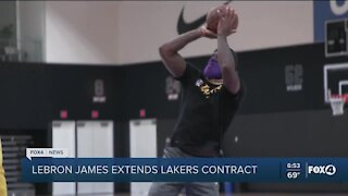 Lebron extends contract