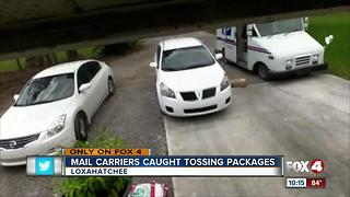 Mail carriers caught tossing packages - Video