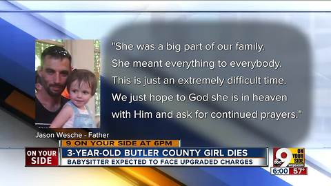 3-year-old Hannah Wesche dies days after baby sitter indicted