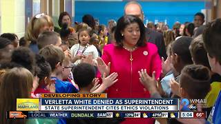 State Superintendent declines Verletta White's appointment as BCPS Superintendent - Video