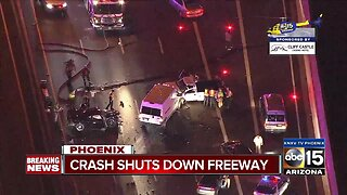 Crash shuts down major Valley freeway