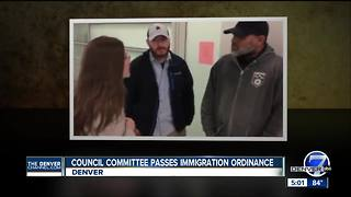 Denver council committee passes immigration ordinance proposal to full council - Video