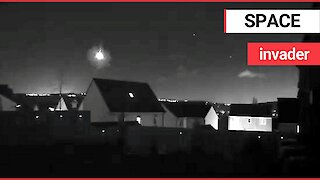 CCTV footage captured meteor as it shot across the sky