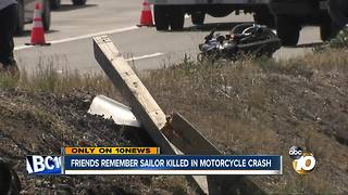 Friends remember sailor killed in motorcycle crash - Video
