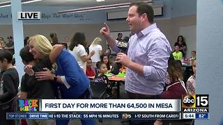 First day of classes for Mesa students - Video