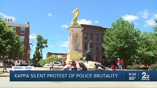 Brothers of Kappa Alpha Psi holds silent protest of police brutality